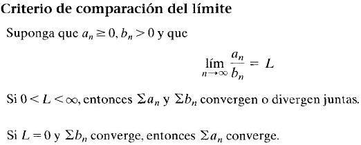 comparacion con limite